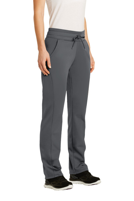 Dark Smoke Grey Sport-Tek Ladies Sport-Wick Fleece Pant
