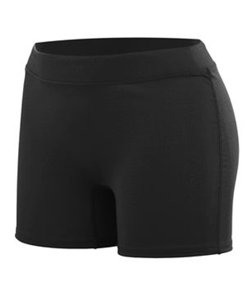 Black Augusta Sportswear Women's Enthuse Shorts
