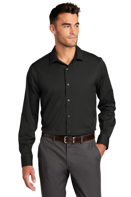 Black Port Authority City Stretch Shirt