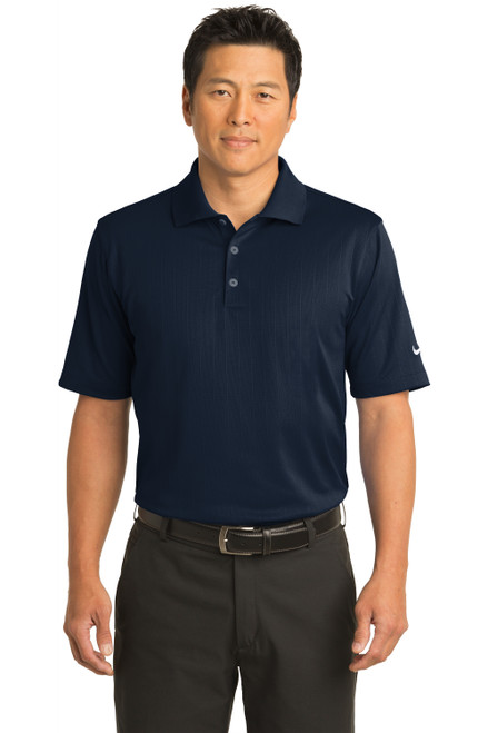 Navy Nike Dri-FIT Textured Polo