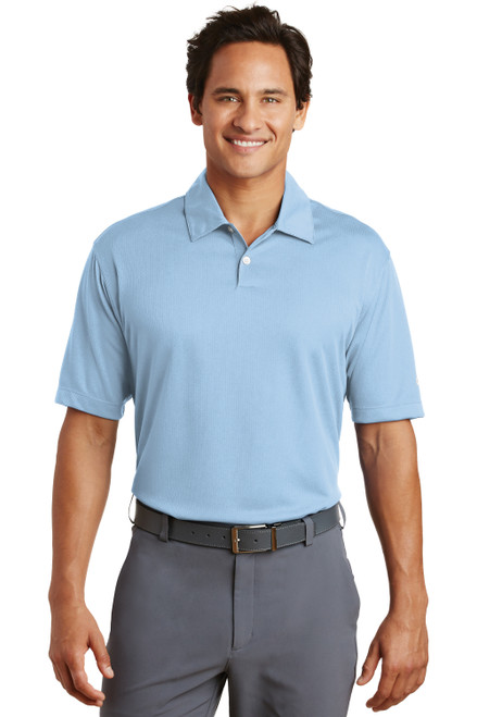 Cirrus Blue Nike Dri-FIT Pebble Texture Polo