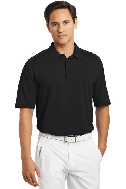 Black Nike Dri-FIT Mini Texture Polo