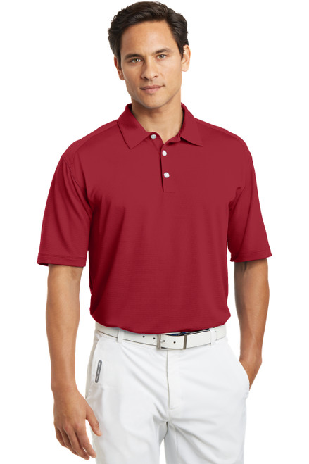 Varsity Red Nike Dri-FIT Mini Texture Polo