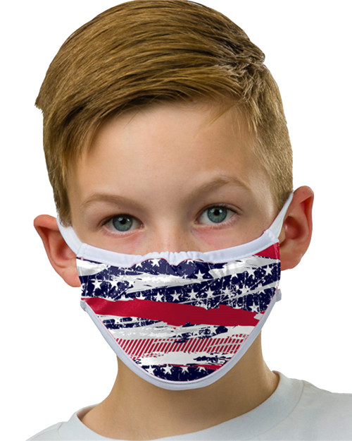 Abstract Flag Alleson Athletic - 3-Ply Sublimated Mask