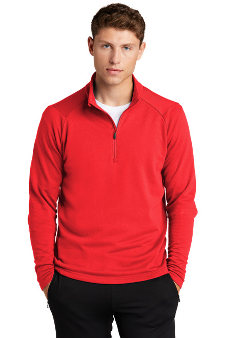 True Red Sport-Tek Lightweight French Terry 1/4-Zip Pullover