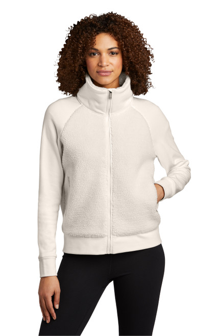 Ivory Snow OGIO Ladies Luuma Sherpa Full-Zip