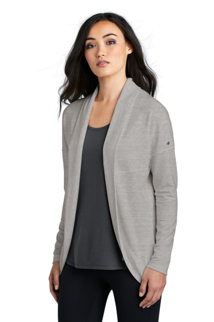 Petrol Grey Heather OGIO Ladies Luuma Cocoon Fleece