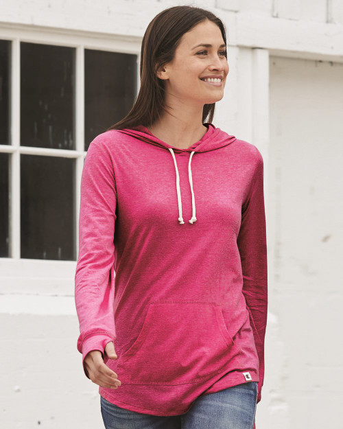 Lotus Pink Heather Champion Women's Originals Triblend Hooded Pullover