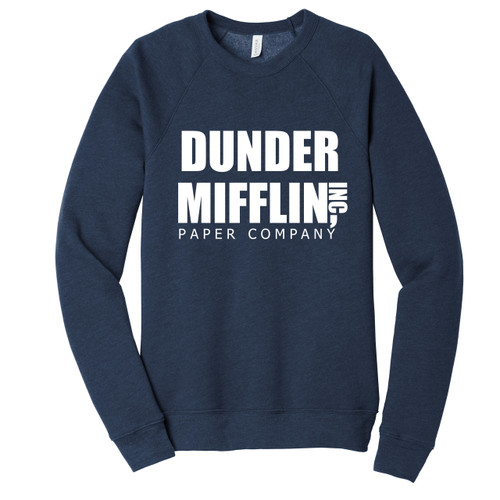 Heather Navy Dunder Mifflin