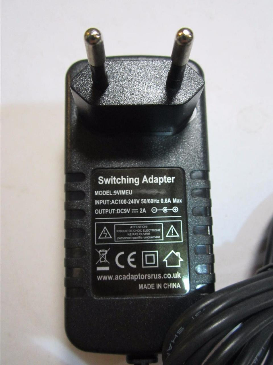 Replacement for Switching AC-DC ADAPTOR Model YJS012A-0901200D 9.0V 1200mA