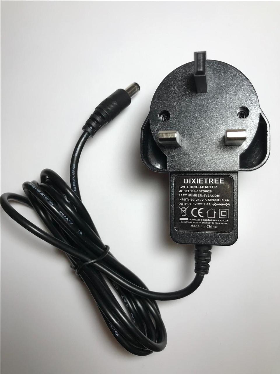 UK Mains AC-DC Switching Adaptor 9V 9 Volt Output 2A 2000mA 4mm x 1.7mm Plug
