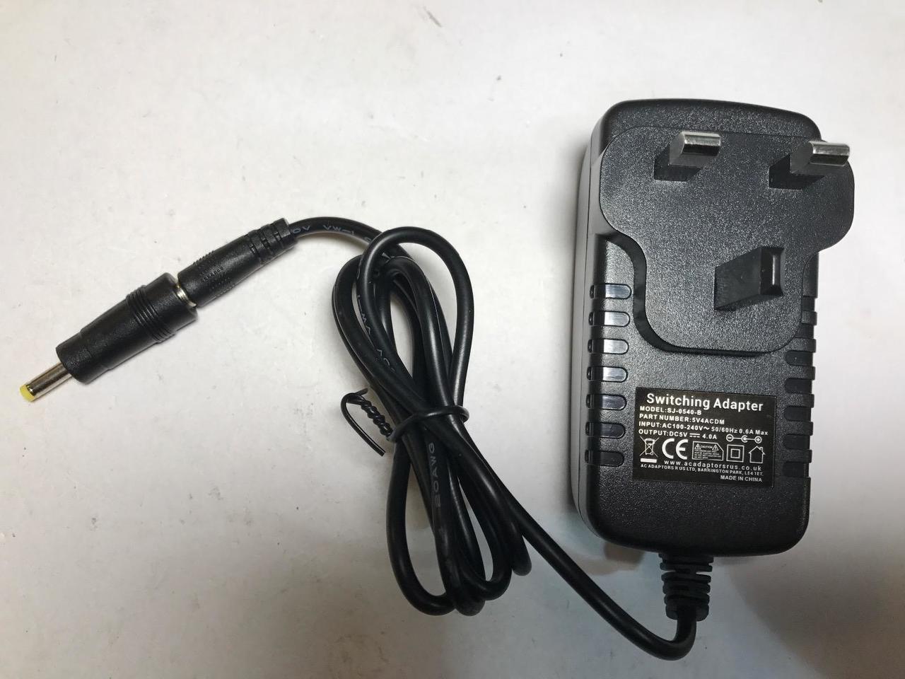5V 4A AC-DC Adaptor for Kensington USB 3 0 Dock K33972 M01167 SD3500V
