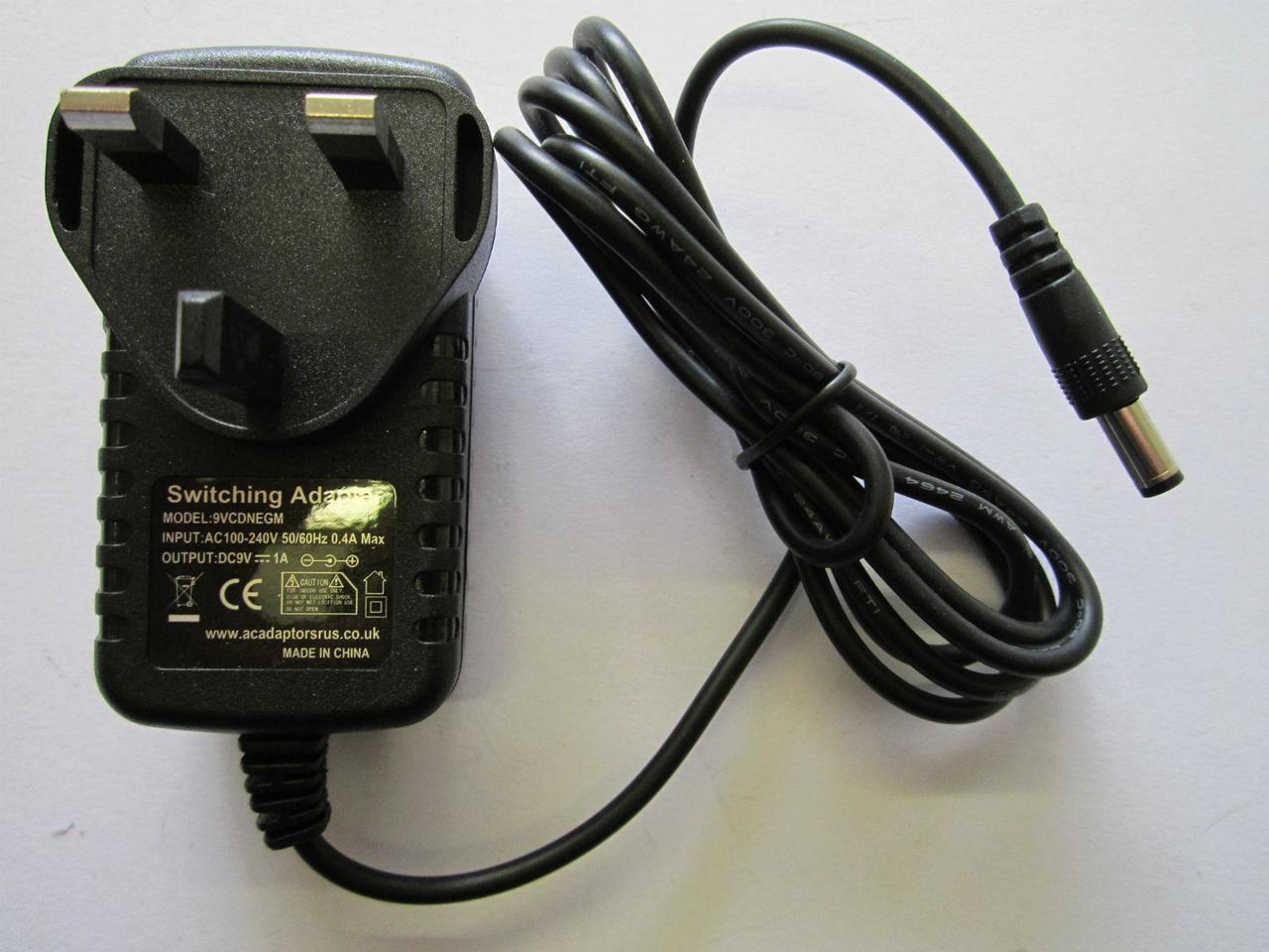 9V Negative Polarity AC Power Adaptor 6 3mm x 3 0mm for PC Engine SuperGrafx