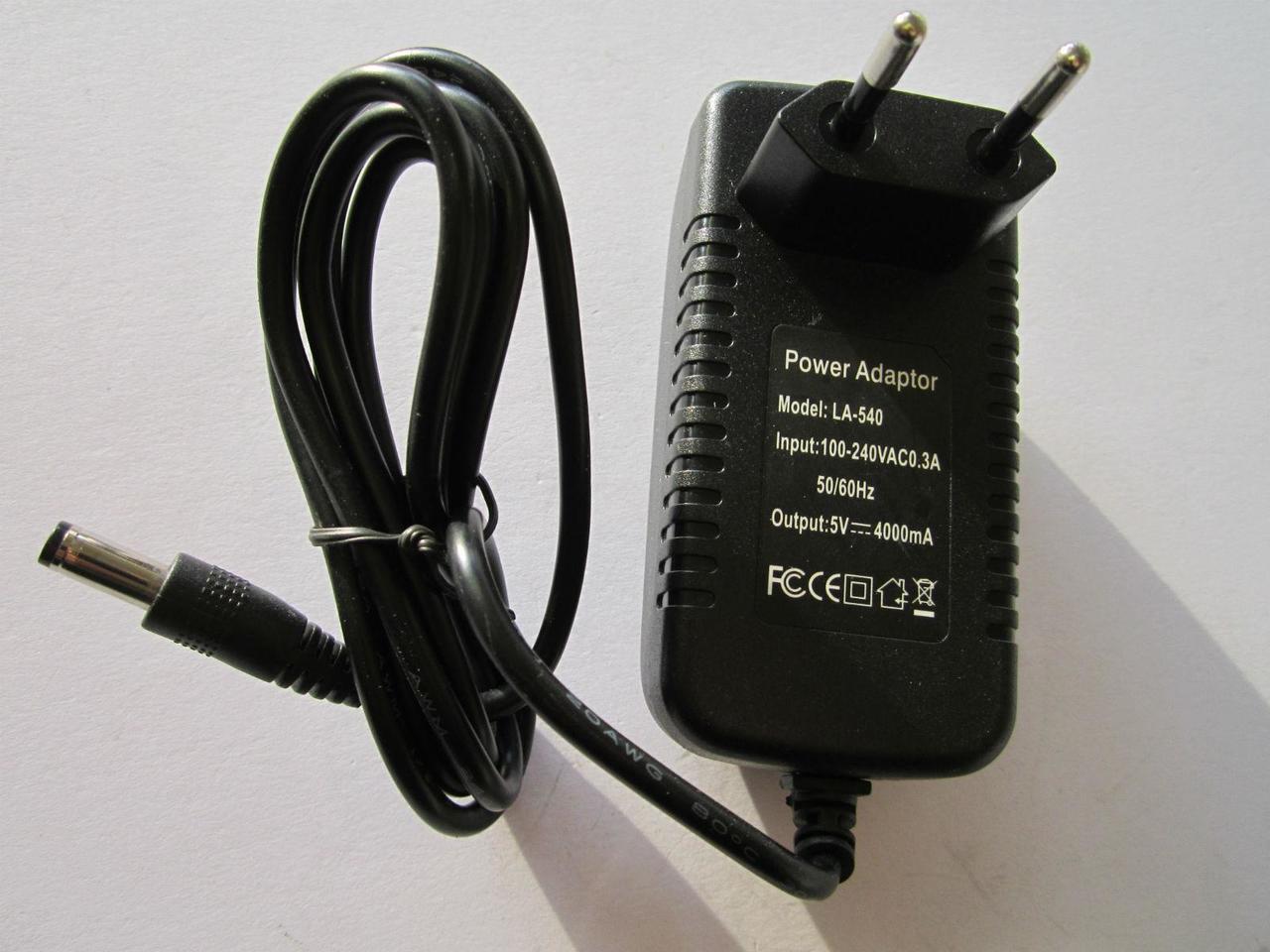 AC supply DC 5V 4A Switching Power Adapter 20W US plug DC 3.5mm x 1.35mm 4000mA