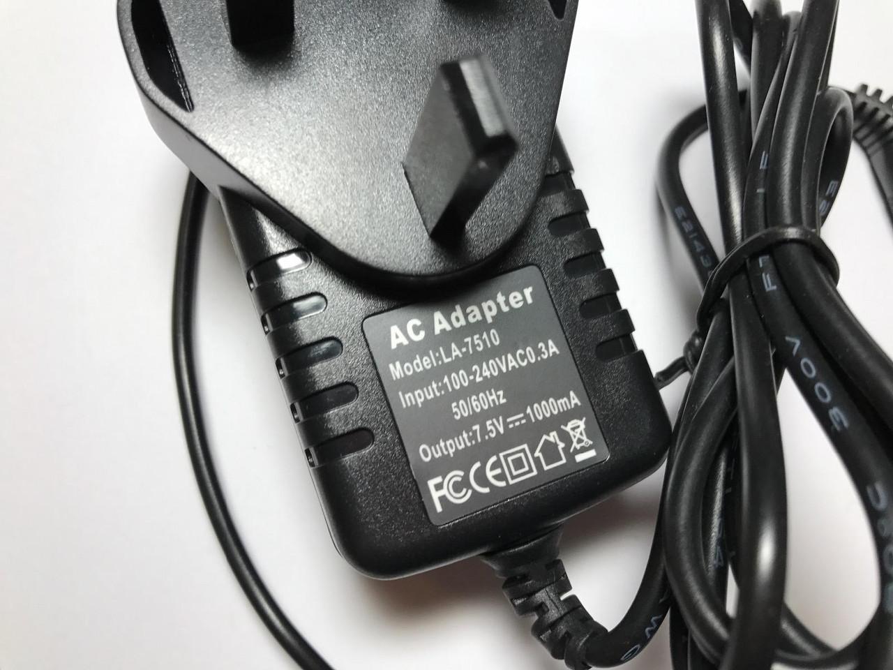 7.5V Netzteil Ladegerät für Casio MT-70 Keyboard