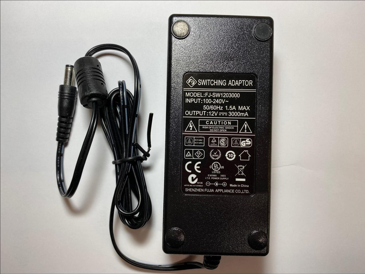 """12V Mains Charger Power Supply for Essentials C16LDIB11 16/"""" 720p HD LED LCD TV"""
