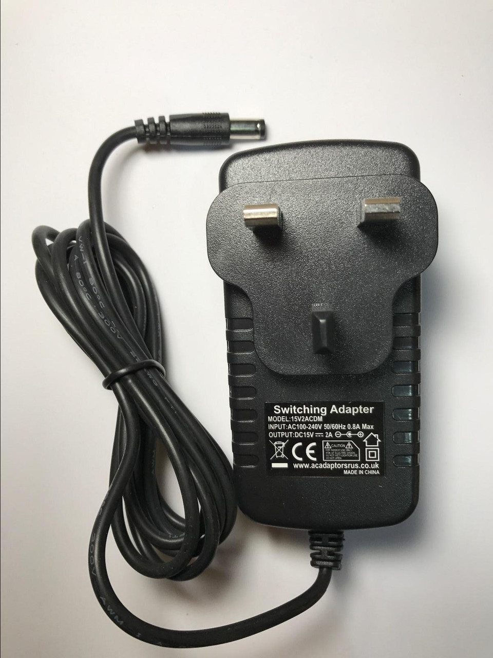 Replacement AC-DC Power Adaptor for 15V 1.0A for Plustek Opticbook 3800 Scanner