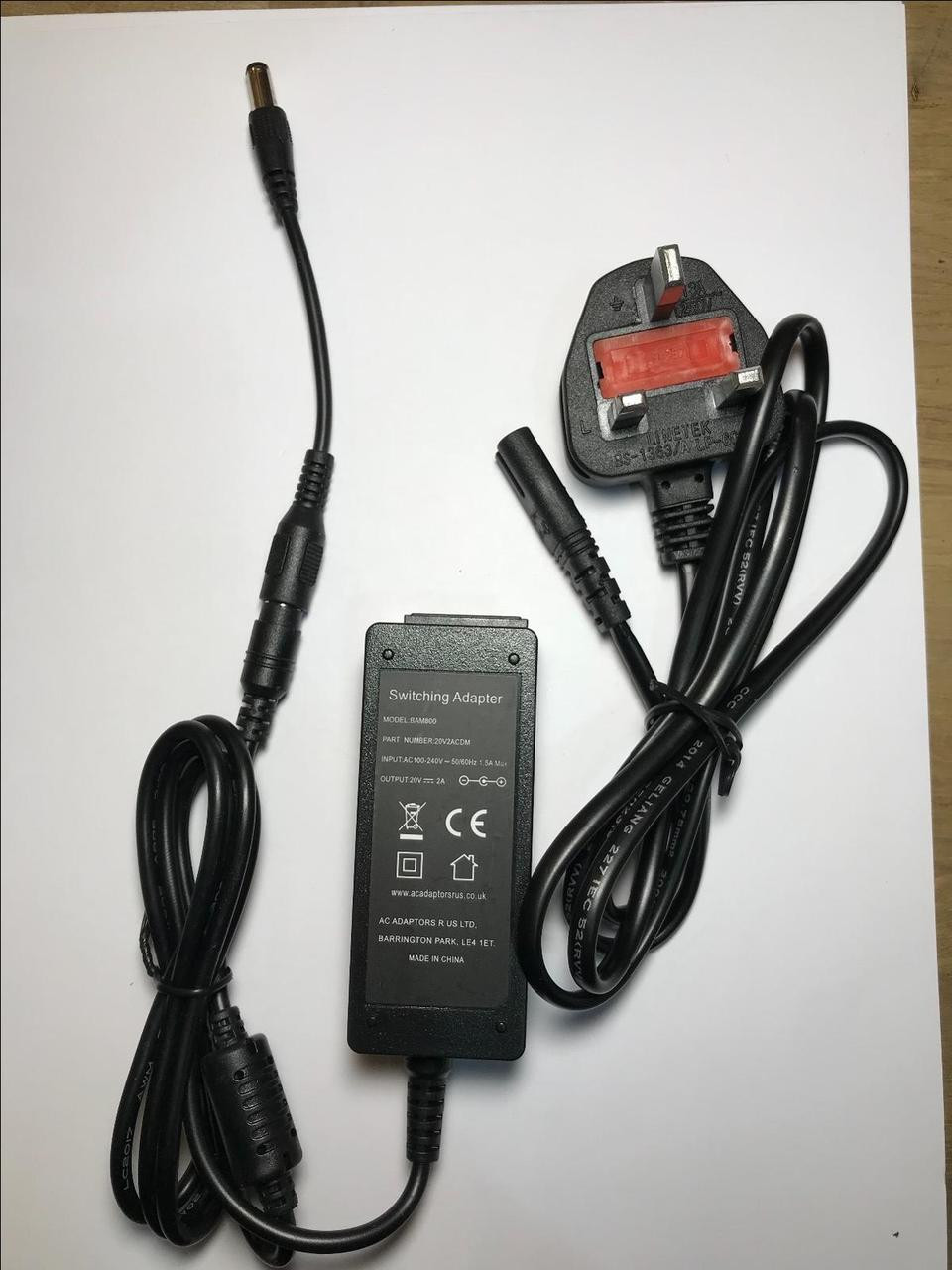 UK 20V 2A AC Adapter Power Supply to replace BOSE 95PS-030-CD-1