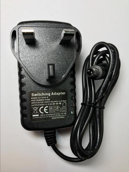 6V 2.0A AC Adaptor KSAD0600200W1UK for PURE Evoke Flow/Evoke Mio/Evo DAB Radio
