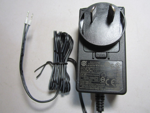 AUS 12.0V 12V 1.5A 1500mA AC-DC Switching Power Supply Adaptor 2 Bare End Wires
