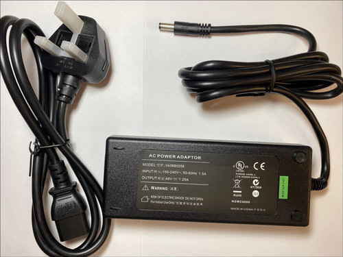 48V AC Adaptor Power Supply for Polycom VVX 411 IP Phone - 2200-48450-025