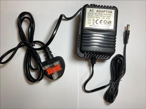 18Vac 18V 1000mA Mains AC Adaptor 4 Alto Zephyr ZMX122FX 8 Channel Compact Mixer