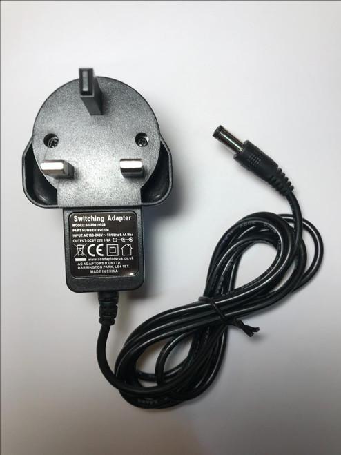 Bush BDVD8310BEA Portable DVD Player 9V Mains AC-DC Adaptor Power Supply Charger