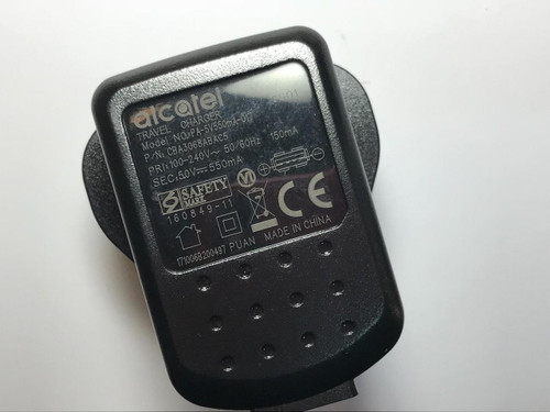 ALCATEL 5.0V 550mA Travel Charger USB PLUG PA-5V550MA-017 CBA3068ABAC5 5V ICS01
