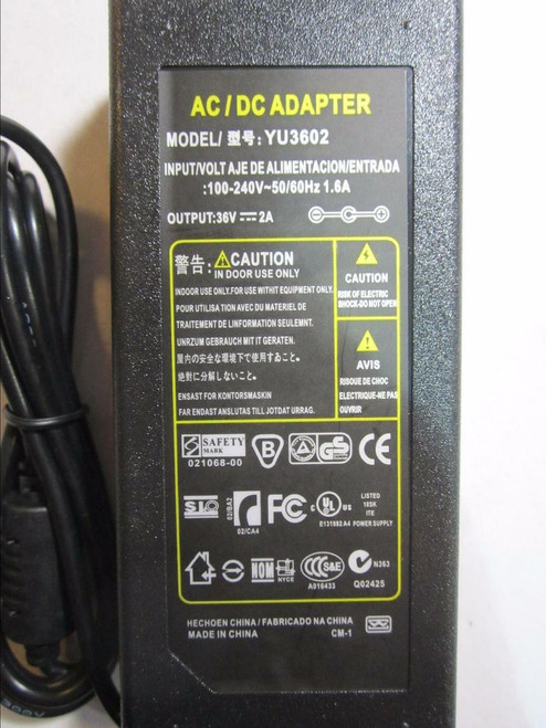 36V AC-DC Switching Desktop AC-DC ADAPTOR same size as SSA-10W 36.0V 300mA