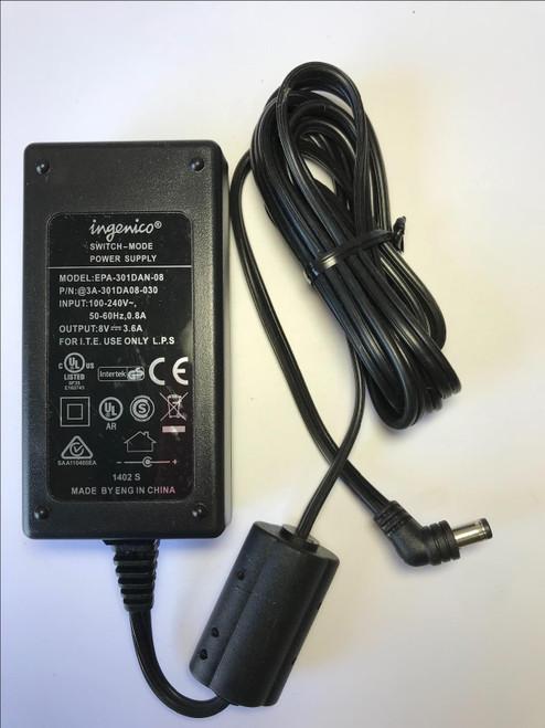 ingenico Switch-Mode Power Supply EPA-301DAN-08 @3A-301DA08-030 8V 3.6A PSU