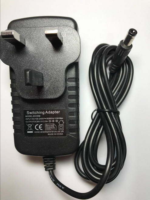 Replacement 8V AC-DC Adaptor for V-FIT MPTC2 PROGRAMMABLE UPRIGHT MAGNETIC CYCLE