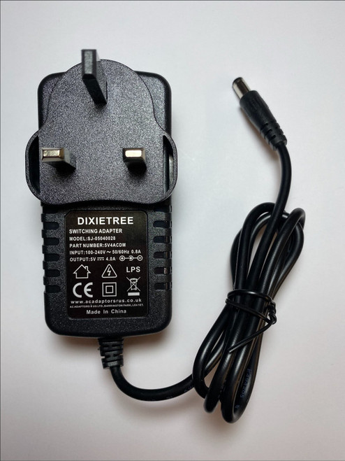 5V 4A 4.0A 4000mA AC-DC Switching Adaptor Power Supply Plug 5.5mmx2.1mm 5.5x21