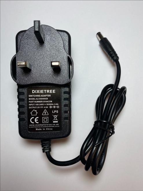 5V 4A 4.0A 4000mA AC-DC Switching Adaptor Power Supply Plug 5.5mmx2.1mm 5.5x21