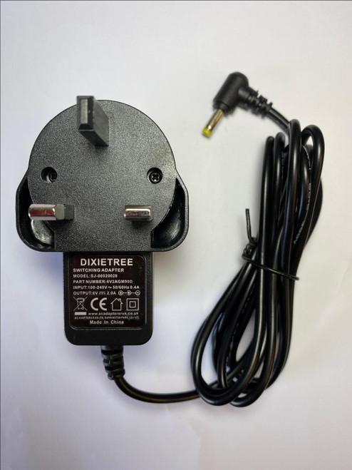 6V AC-DC Adaptor Power Supply for LOGIK L55DAB15 Portable DAB+/FM Clock Radio