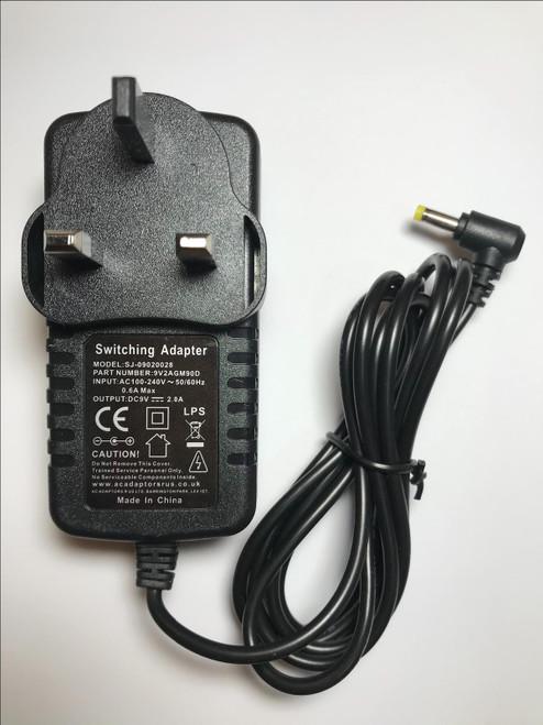 Starlite PDSS08 Portable DVD 9V Mains AC Adaptor Power