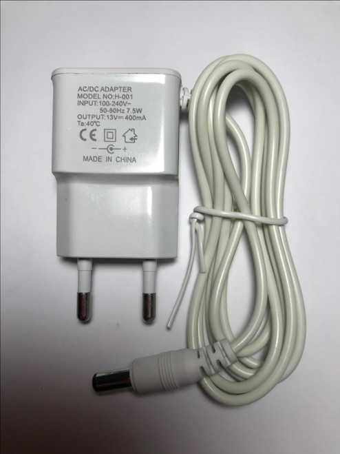 EU Plug Genuine Philips Charger AC/DC Adaptor H-001 13V 400mA White