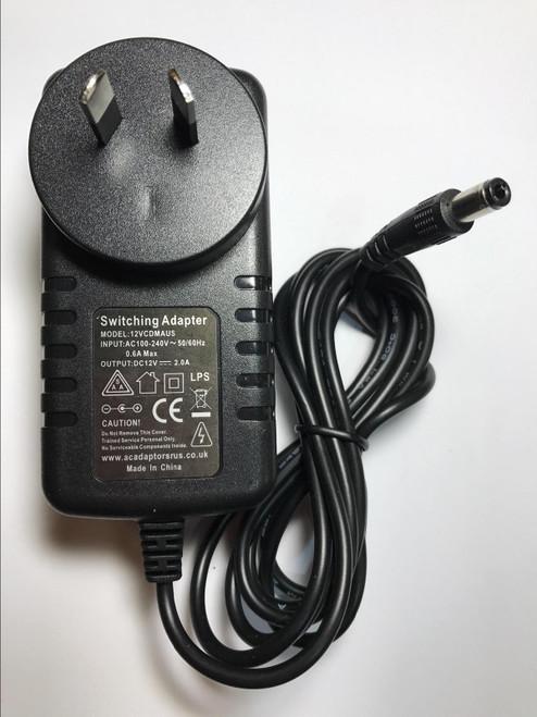 AUS 12V WD My Book WDBAAU5000EBK-01 External Hard Drive AC Adaptor Power Supply