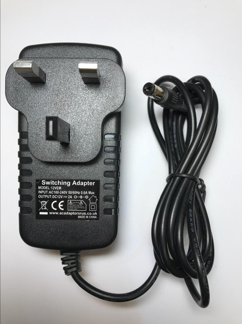 12V Mains AC Adaptor Charger for Nextbase SDV77-BD Portable DVD Player