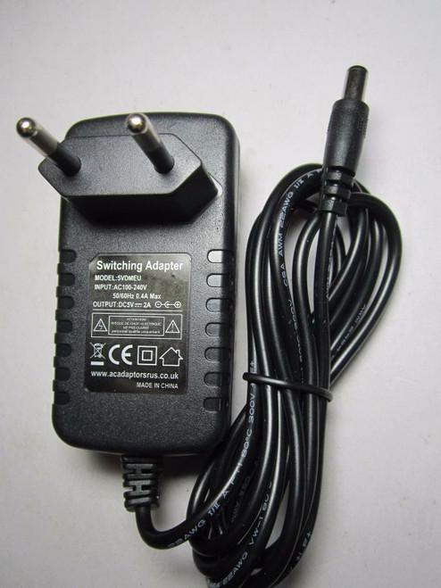 AC Converter Adapter DC 5V 2A Power Supply Charger EU plug 5.5mm x 2.1mm 2000mA