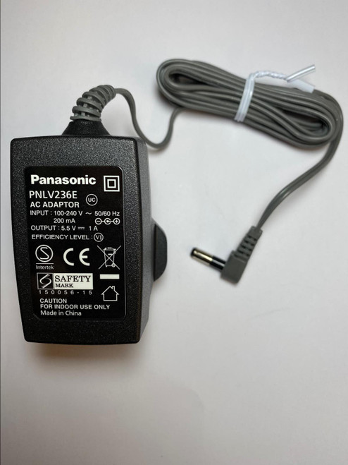 5.5V 500mA Replacement AC-DC Switching Adapter Charger for Panasonic PNLV226E