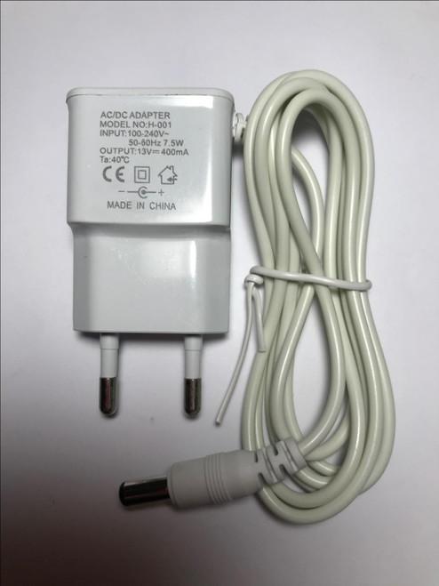 EU Plug Philips Charger AC/DC Adaptor 13V 400mA White for model SSW-2082EU