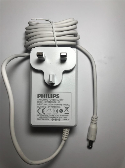 UK 24V 1.5A AC-DC Adaptor for Philips Lumea Advanced IPL Hair Removal SC1997/00