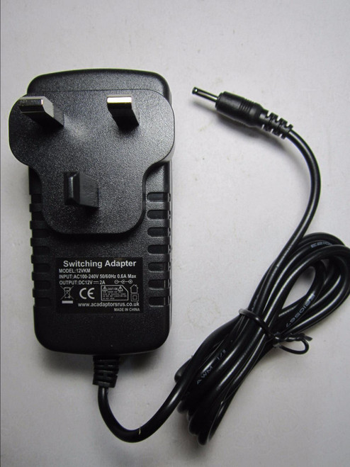 """Replacement 12V AC-DC Power Adaptor Charger for ieGeek 11"""" Portable DVD Player"""
