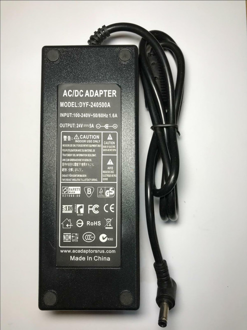 24V 5A 5000mA AC-DC Adaptor Power Supply for Philips Matchline 23PF9945 LCD TV