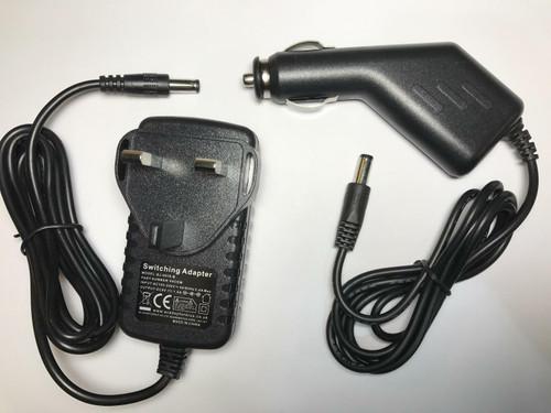 9V Mains AC Adaptor + Car AC-DC ADAPTOR SET for Vtech Storio 2 Baby