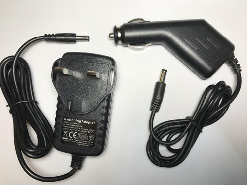Vtech Innotab/Mobigo/Storio/VSmile/Storio 9V AC Adaptor + Car AC-DC ADAPTOR