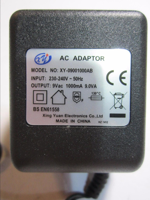 Replacement for AC/AC Adaptor model G090090A34 D11235 9V 900mA 8.1VA