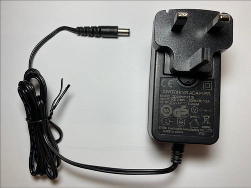 21V Replacement for 22V AC-DC 1.5A 2500265 Charger for 20V Battery Strimmer
