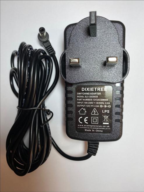 12V AC Power Adaptor for Tesco TECHNIKA BLUETOOTH WIRELESS SPEAKER SM21205VIENNA