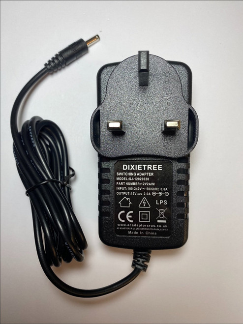 """Replacement 12V 2A AC-DC Adaptor Charger for CODA Spirit 13.3"""" Windows 10 Laptop"""